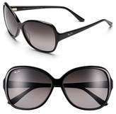 Maui Jim Women's 'Maile' 60Mm Sunglasses - Black/ Crystal