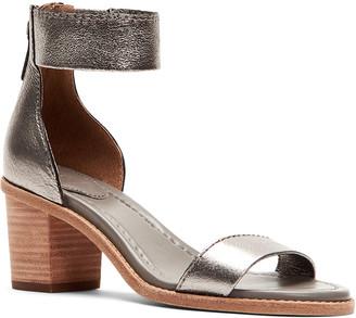 Frye Brielle Metallic Zip-Cuff Sandals