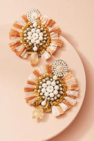 Anthropologie Zoya Fan Drop Earrings