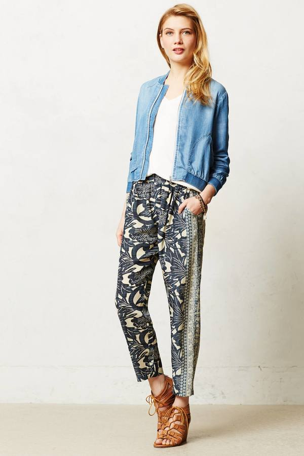 Anthropologie Cloth & Stone Chambray Bomber