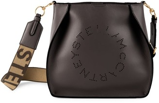 Stella McCartney Mini Stella Logo Perforated Shoulder Bag
