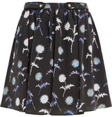 Kenzo Printed Silk Mini Skirt - Black