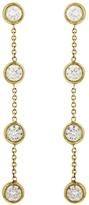 Jennifer Meyer Four Bezel Diamond Drop Earrings