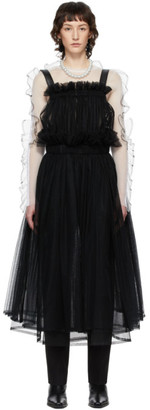Noir Kei Ninomiya Black Tulle Bib Suspender Dress