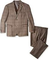 Stacy Adams Men's Big and Tall Bally 3 Piece Plaid Suit