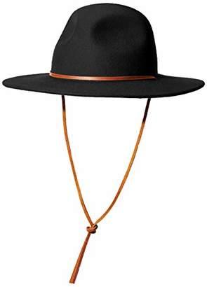 Brixton Men's Tiller III Wide Brim Felt Fedora HAT