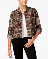 American Rag Cropped Camo-Print Cargo Jacket, Only at Macy's
