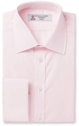Turnbull & Asser Pink Double-Cuff Cotton Shirt