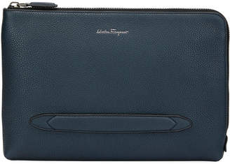 Salvatore Ferragamo Men's Firenze Large Zip-Around Portfolio Case