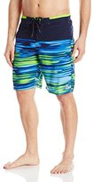 ZeroXposur Men's Hella Printed Color-Block Swim Short