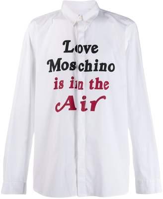 Love Moschino slogan print shirt