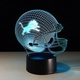 3D Lamp American Football Helmet Best Gift For boys Acrylic Table Night light Furniture Decorative colorful 7 color change household Home Accessories