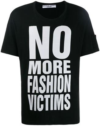 Katharine Hamnett printed 'no more fashion victims' T-shirt