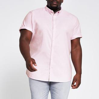 River Island Big and Tall light pink slim fit Oxford shirt