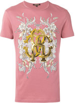 Roberto Cavalli Gold print T-shirt - men - Cotton - L