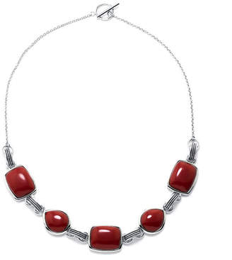FINE JEWELRY Simulated Red Jasper Sterling Silver Necklace