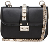 Valentino Small Lock Flap Bag in Black