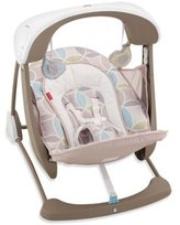 Fisher-Price Deluxe Take-Along Swing and Seat in Mocha Swirl by
