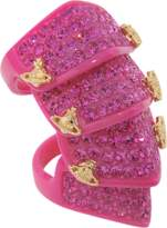 Vivienne Westwood Pave Resin Armour ring
