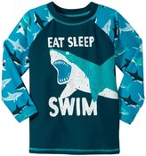 Hatley Great White Sharks Rash Guard (Toddler/Kid) - Blue - 5