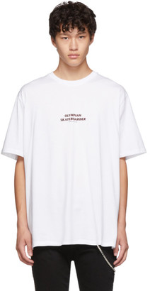 Neil Barrett White Olympian Skateboarder T-Shirt