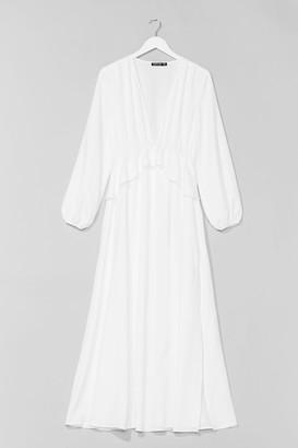 Nasty Gal Womens So Long Ruffle Maxi Dress - Off White