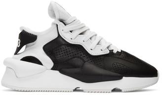 Y-3 Black and White Kaiwa Sneakers