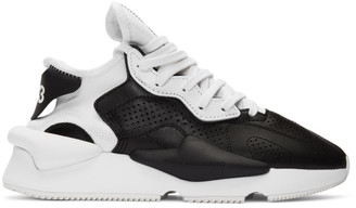 Y-3 Y 3 Black and White Kaiwa Sneakers