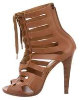 Vanessa Bruno Leather Lace-Up Sandals