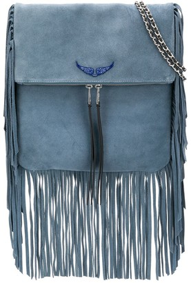 Zadig & Voltaire Fringed Shoulder Bag