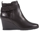 Geox Inspiration Wedge Heeled Buckle Ankle Boots, Black