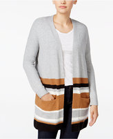 Style&Co. Style & Co. Striped Colorblocked Cardigan, Only at Macy's
