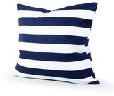 Lavievert Decorative Canvas Square Throw Pillow Cover Cushion Case Navy Blue Stripe Toss Pillowcase with Hidden Zipper Closure 18 X 18 Inches (For Living Room, Sofa, Etc)