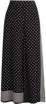 Stella McCartney Polka-dot print wide-leg silk-crepe trousers