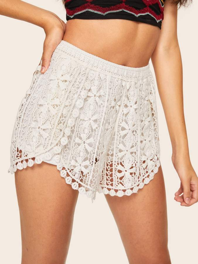 Crochet Lace Shorts Shopstyle