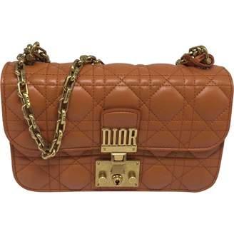 Christian Dior Orange Leather Handbags