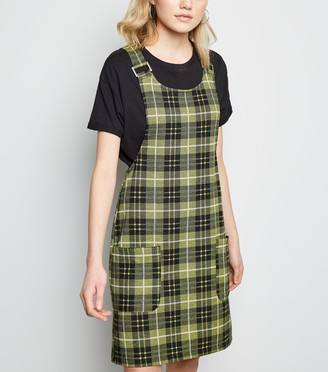 New Look Tall Check Pinafore Dress