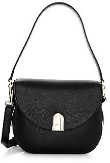 Furla Women's Small Ambra Leather Saddle Bag