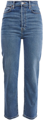RE/DONE 70s Ultra High Rise Stove Up High-rise Straight-leg Jeans