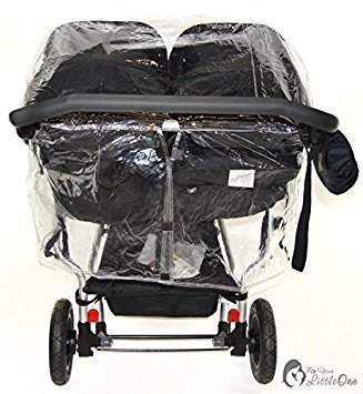 Raincover Compatible with Mountain Buggy Duet Twin Double Pushchair (213)