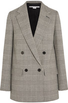 Stella McCartney Milly Prince Of Wales Checked Wool-blend Blazer - Gray