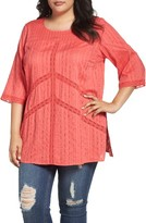 Melissa McCarthy Plus Size Women's Lace Detail Tunic