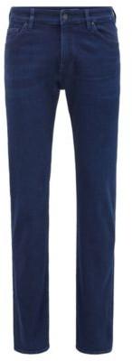 HUGO BOSS Regular Fit Jeans In Super Soft Italian Stretch Denim - Blue