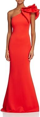 Aqua One-Shoulder Scuba Gown - 100% Exclusive