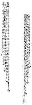 Kenneth Jay Lane Women's Silvertone Multi-Strand Linear Earrings