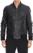 Philipp Plein Exagonal Leather Jacket