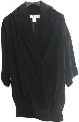 Genny Black Velvet Coat for Women