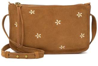 Madewell The Simple Crossbody Bag: Daisy Embroidered Suede Edition