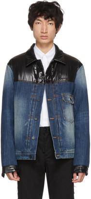 MONCLER GENIUS 7 Moncler Fragment Hiroshi Fujiwara Navy Shady Down Denim Jacket