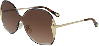 Chloé Rimless Shield Sunglasses